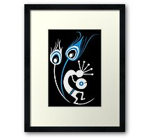 Wasted In Bombay - Blue Logo Promo Wordless Framed Print
