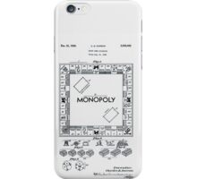 Monopoly Board Patent 1935 iPhone Case/Skin