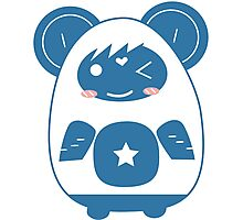 Stickers Animals cartoon style.  Photographic Print