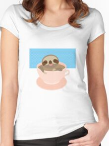 Sloth in a cup 2 Women's Fitted Scoop T-Shirt