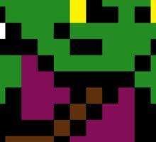 8-Bit Green Goblin Sticker Sticker