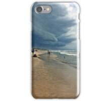 Storm clouds of an tropical hurricane bringing heavy rain over West Africa. Seen on a beach. iPhone Case/Skin