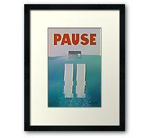 Pause Framed Print