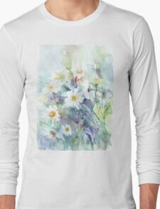 Watercolour daisies Long Sleeve T-Shirt