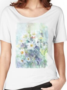 Watercolour daisies Women's Relaxed Fit T-Shirt