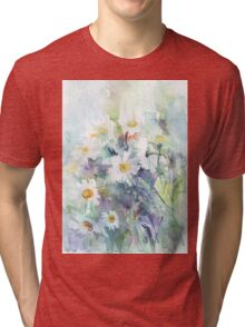 Watercolour daisies Tri-blend T-Shirt