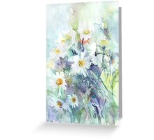 Watercolour daisies Greeting Card