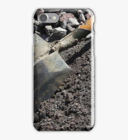 Shovel at a Construction Site iPhone Case/Skin