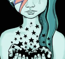 Black Stars Falling (David Bowie tribute) Sticker