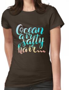 Surf lettering on a  defocus blurred summer background Womens Fitted T-Shirt