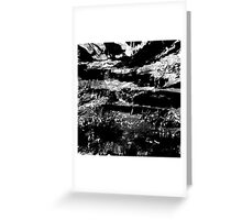 abstract black high contrast Greeting Card