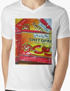 Shito.. not shit.... Very Hot pepper Sauce from Ghana, West Africa Mens V-Neck T-Shirt