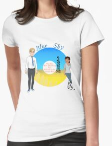 Portal Blue Sky Womens Fitted T-Shirt