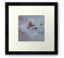 Muted Blue Skies Framed Print
