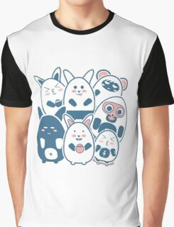 Stickers Animals cartoon style.  Graphic T-Shirt
