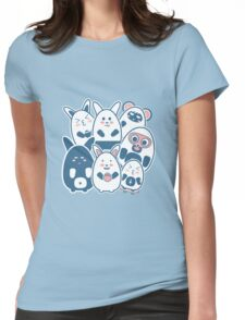 Stickers Animals cartoon style.  Womens Fitted T-Shirt