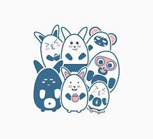 Stickers Animals cartoon style.  Unisex T-Shirt