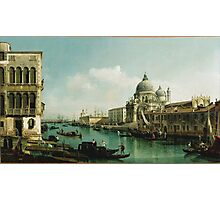 Vintage famous art - Bernardo Bellotto  - View Of The Grand Canal And The Doganaabout 1743 Photographic Print