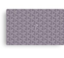 goyard purple logo Canvas Print