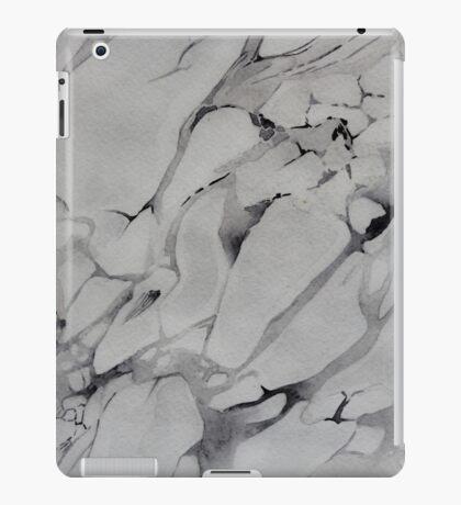 Gray Watercolor Marble Texture iPad Case/Skin