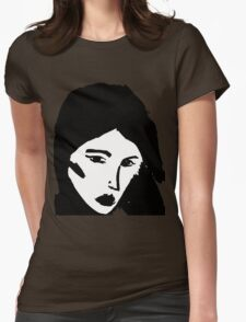 Girl in black Womens Fitted T-Shirt