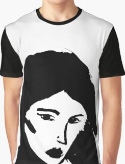 Girl in black Graphic T-Shirt