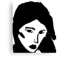 Girl in black Canvas Print