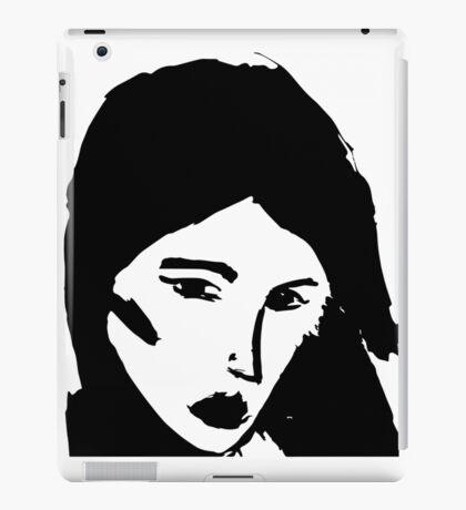 Girl in black iPad Case/Skin