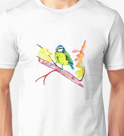 Little Autumn Blue Tit Unisex T-Shirt