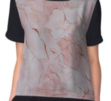 Watercolor Marble Texture Chiffon Top