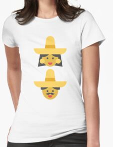 a mexican couple Womens Fitted T-Shirt