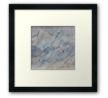 Blue Marble Watercolor Texture Framed Print