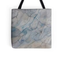 Blue Marble Watercolor Texture Tote Bag