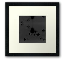 Light up the Ski in Pale Grey Monochrome Framed Print
