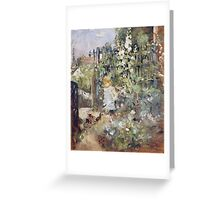 Vintage famous art - Berthe Morisot  - A Child In The Rosebeds Greeting Card