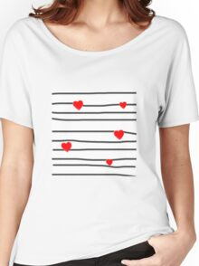 Hearts and stripes Women's Relaxed Fit T-Shirt