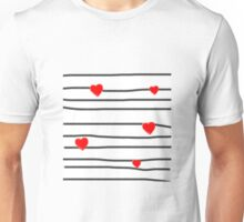 Hearts and stripes Unisex T-Shirt