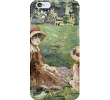 Vintage famous art - Berthe Morisot  - In The Garden At Maurecourt iPhone Case/Skin