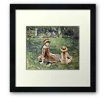Vintage famous art - Berthe Morisot  - In The Garden At Maurecourt Framed Print