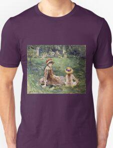 Vintage famous art - Berthe Morisot  - In The Garden At Maurecourt Unisex T-Shirt