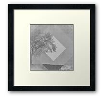 Monochrome Two Tone Trees Framed Print