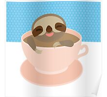 Sloth in a cup 2 Poster