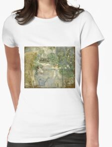 Vintage famous art - Berthe Morisot  - The Basket Chair Womens Fitted T-Shirt