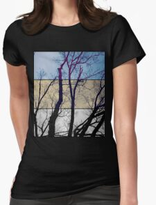 Tri-Colour Tree Womens Fitted T-Shirt