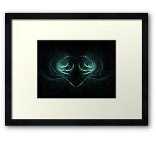 neon heart Framed Print