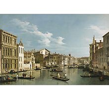 Vintage famous art - Canaletto Antonio - Grand Canal From Palazzo Flangini To Palazzo Bembo 1735 - 1745  Photographic Print