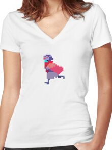 Hyper Light Drifter - Drifter Women's Fitted V-Neck T-Shirt