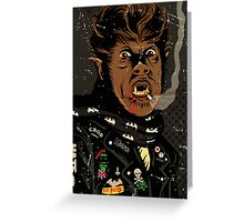 An Punk Werewolf Greeting Card