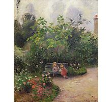 Vintage famous art - Camille Pissarro  - A Corner Of The Garden At The Hermitage, Pontoise Photographic Print
