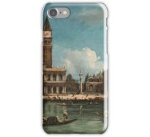 Vintage famous art - Canaletto Antonio - Palazzo Ducale  iPhone Case/Skin